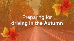Preparing for driving in Autumn